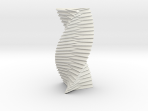 Spiral Helix Tower Three Sided  in White Strong & Flexible