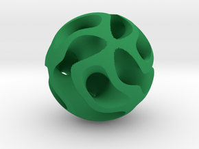 Orb Five in Green Processed Versatile Plastic