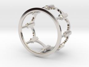 Moorish Ring in Platinum: 5 / 49