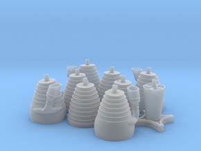 H-1 Engines (1:48 Saturn I & IB) SA-1 thru SA-202 in Smooth Fine Detail Plastic