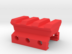 Nerf Rival to Picatinny Adapter (3 Slots) in Red Processed Versatile Plastic