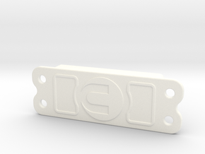 SAVAGE FLUX Servo Cover Plate in White Strong & Flexible Polished