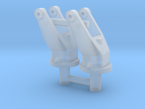 2x 1/16 scale 30cal MG pintle mounts. in Smooth Fine Detail Plastic