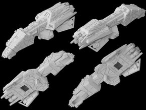 (Armada) Interceptor Frigate in White Strong & Flexible