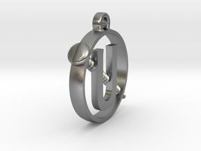Ghostbusters - Mini Holtzmann Screw U Pendant in Natural Silver