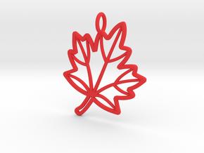 Maple Leaf in Red Processed Versatile Plastic