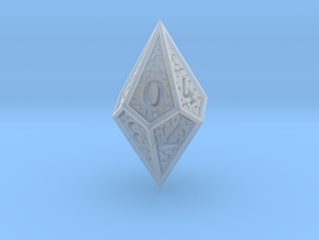Hedron D10 (Solid), balanced gaming die in Smooth Fine Detail Plastic