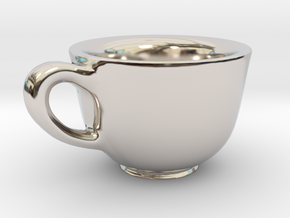 Teacup Bracelet Charm in Platinum