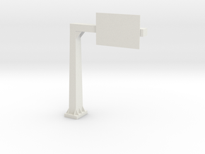 Road Signal in White Natural Versatile Plastic: 1:32