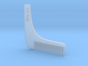 Beard Comb in Smooth Fine Detail Plastic: Small