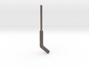 Hockey Goalie Stick for ModiBot in Polished Bronzed Silver Steel