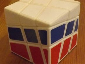 National Cube in White Natural Versatile Plastic
