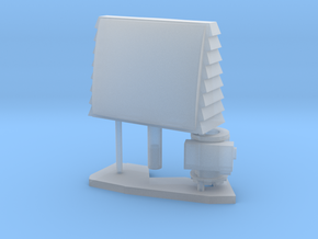 1:96 scale SPQ-9B radar in Smooth Fine Detail Plastic