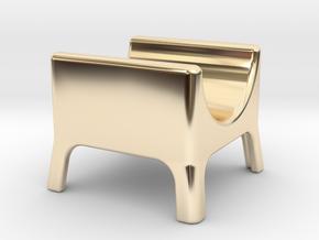 Cigar stand in 14k Gold Plated Brass: Medium