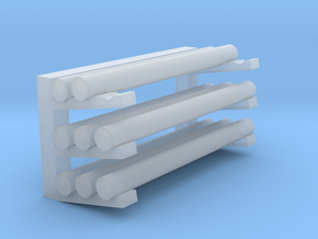 Pipe Storage Rack - Loaded in Smooth Fine Detail Plastic