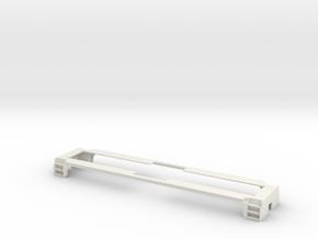 1/64 S-scale Whitcomb 65 Ton Loco Frame in White Natural Versatile Plastic