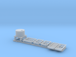 N Scale NSWR Platform Signal Box Detail Parts RH D in Frosted Extreme Detail