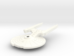 Quinn Class Frigate in White Strong & Flexible Polished