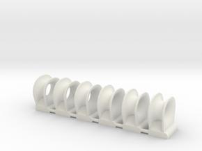 TEMPEST fairlead bow (6pcs) in White Natural Versatile Plastic