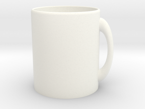 Customizable Mug in White Processed Versatile Plastic