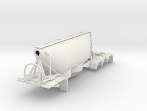 000579 Dry Bulk Trailer B - Double HO in White Natural Versatile Plastic: 1:87 - HO