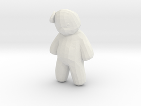 Printle Teddy Bear in White Strong & Flexible