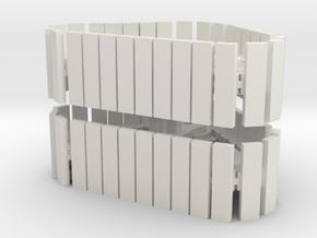 25 inch tracks centered, plasitc option 1/64 in White Natural Versatile Plastic