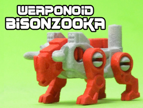 BisonZooka Transforming Weaponoid Kit (5mm) in White Strong & Flexible
