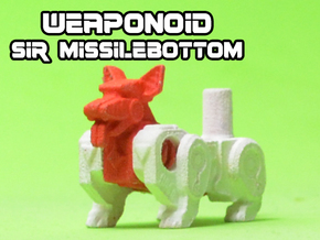 Sir Missilebottom (Corgi) Transforming Weaponoid in White Natural Versatile Plastic