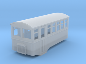1/80 4 wheel railcar in Frosted Ultra Detail