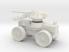 15mm AQMF SAMSON HEAVY GUN - SMALL in White Natural Versatile Plastic