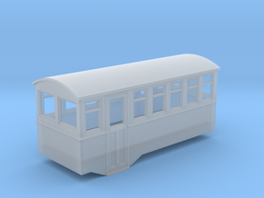 1/80 4 wheel railcar trailer in Frosted Ultra Detail