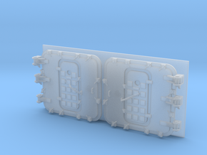 1/72 Burke Specific Doors - Closed in Smooth Fine Detail Plastic