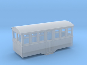 1/80 4 wheel railbus trailer center entrance  in Frosted Ultra Detail