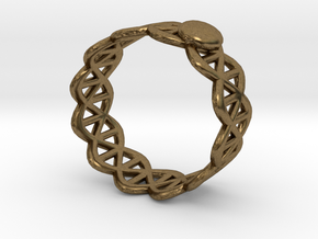 Ring - Silver with Unique Stylish Pattern in Natural Bronze: 3.25 / 44.625
