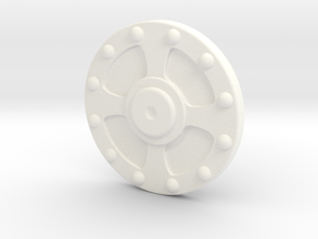 1/6 Vintage Shield in White Processed Versatile Plastic