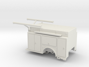 1/87 KME Camden engine body w/ compartment doors in White Natural Versatile Plastic