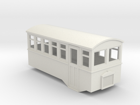 HOe 4 wheel railbus in White Natural Versatile Plastic