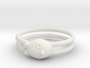 Ring Boy in White Natural Versatile Plastic