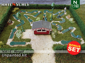BONUS SET Minigolf (N 1:160) in Smooth Fine Detail Plastic