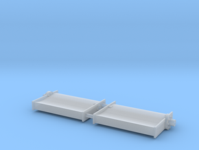 SHOALBUSTER 2609 rudder (2 pcs) in Smooth Fine Detail Plastic