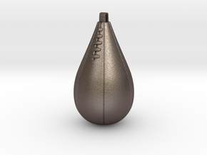 SPEED BAG PENDANT in Polished Bronzed Silver Steel