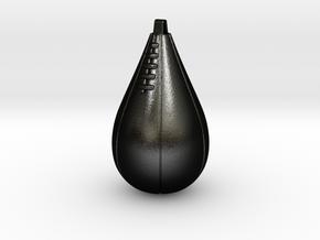 SPEED BAG EAR RING - Large in Matte Black Steel
