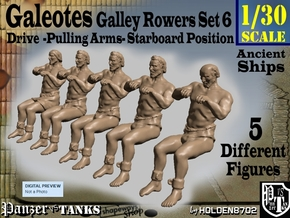 1-30 FIVE ROWERS LEFT SET6 in White Strong & Flexible