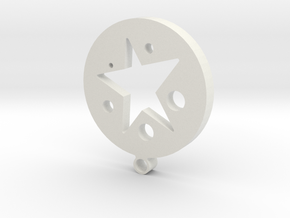 circle and star in White Natural Versatile Plastic