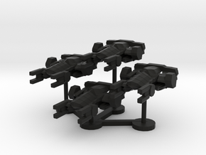 Colour Imperial Attack Corvette Wing in Black Natural Versatile Plastic
