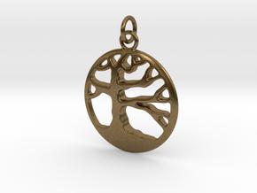 Tree of Life  Pendant in Natural Bronze (Interlocking Parts)