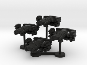 Colour Imperial Flak Corvette Wing in Black Natural Versatile Plastic