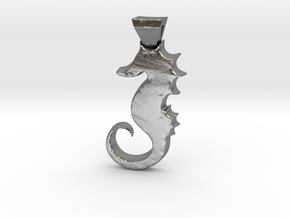 Seahorse in Natural Silver