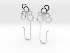 Exhale Bubble Earrings in Rhodium Plated Brass